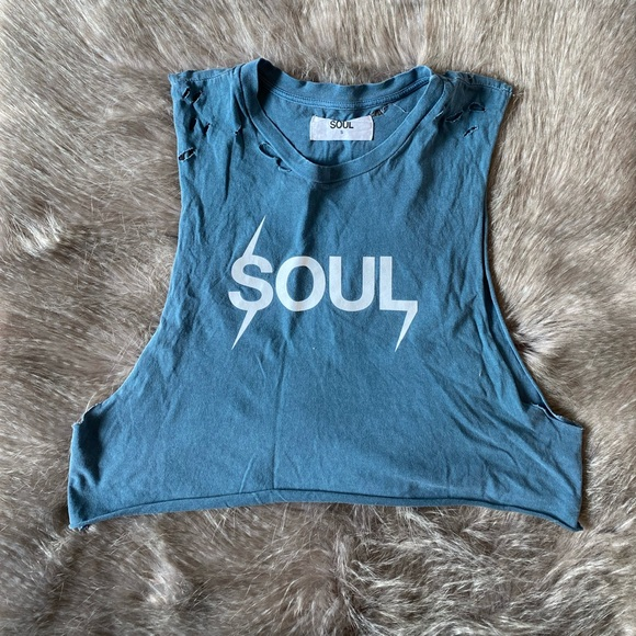 soulcycle Tops - SoulCycle Cropped Muscle Tank